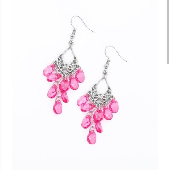 K64 Pink chandelier earrings